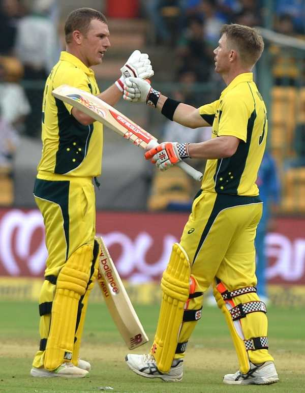 David Warner Aaron Finch Images