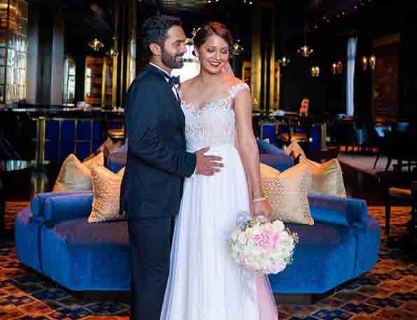 Dinesh Karthik With His Wife After One Month Of Marriage Images