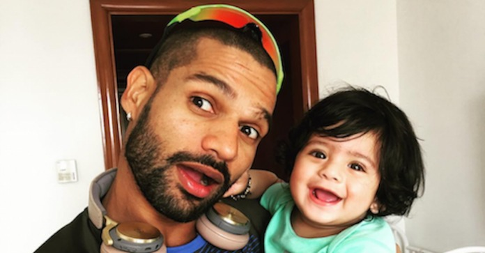 Shikhar Dhawan Hanaya Images in Hindi