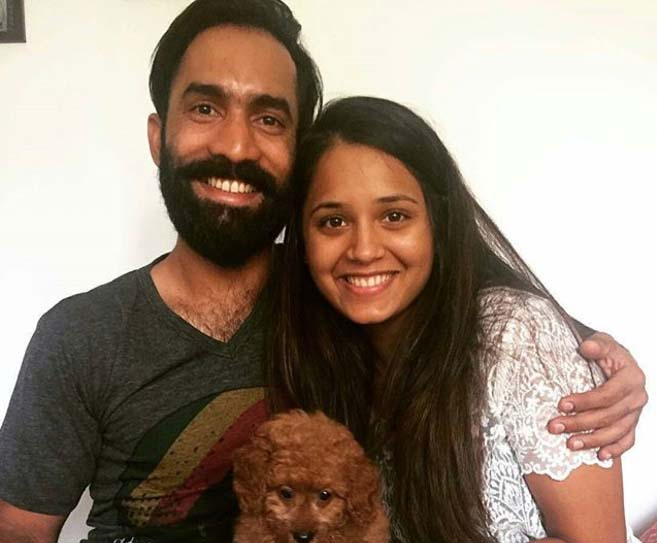 Dinesh Karthik With His Cutey Wife Images