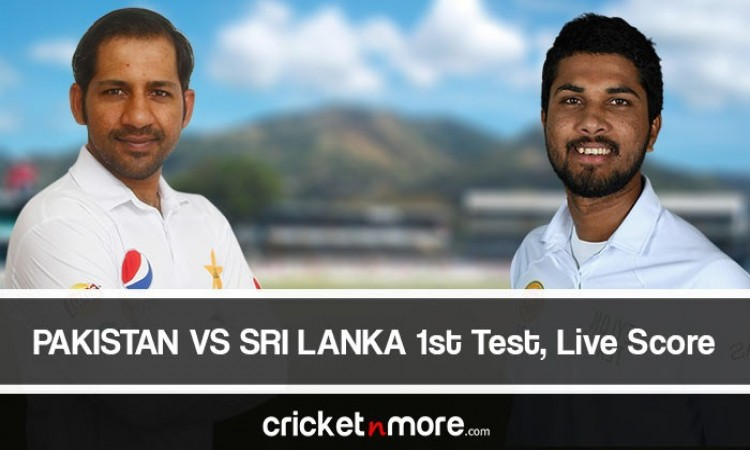 Pakistan vs Sri Lanka 1st test match live score
