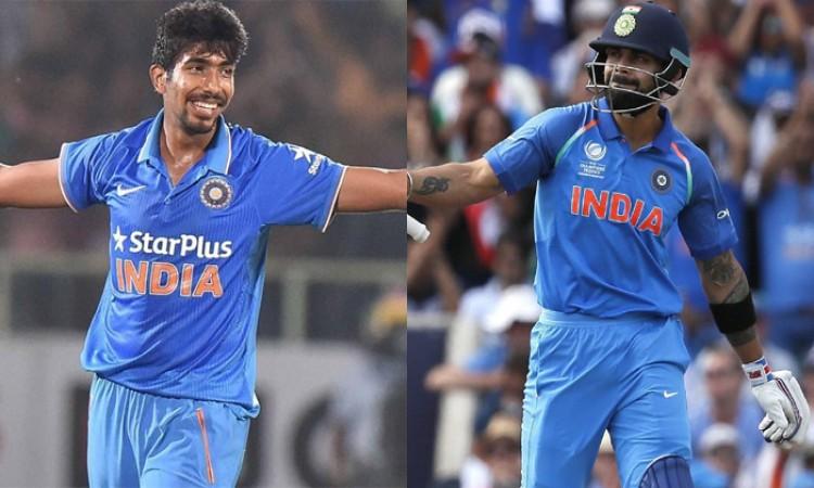 Virat Kohli reclaims top ODI spot, Jasprit Bumrah rises to 3rd among bowlers
