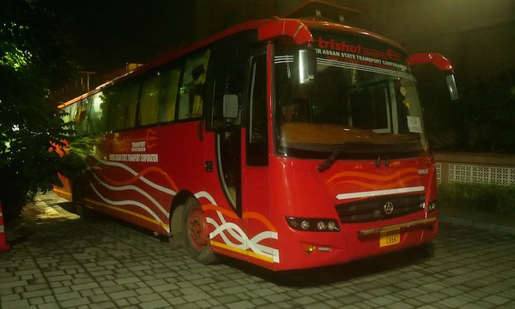 Australian team bus