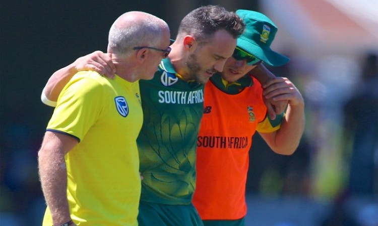 Faf du Plessis ruled out of Bangladesh T20I series due to back injury