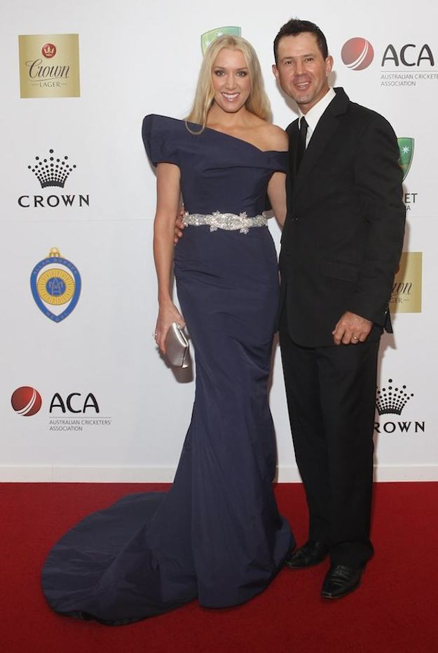 Ricky Ponting Rianna Ponting Images