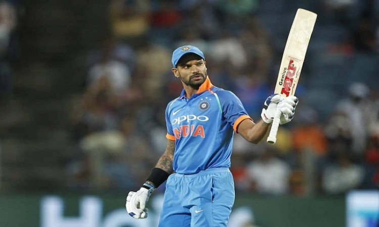 Shikhar Dhawan first half century against New Zealand