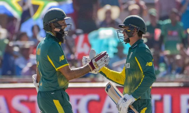 South Africa's 282/0 is the highest score batting 2nd in a 10 wkt ODI win