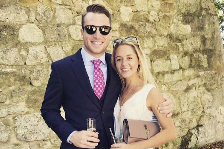jos buttler with his wife