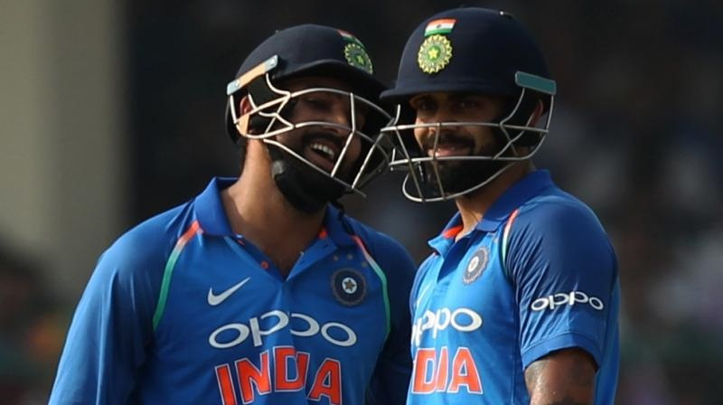 Rohit, Kohli help India post 337/6 vs New Zealand in 3rd ODI