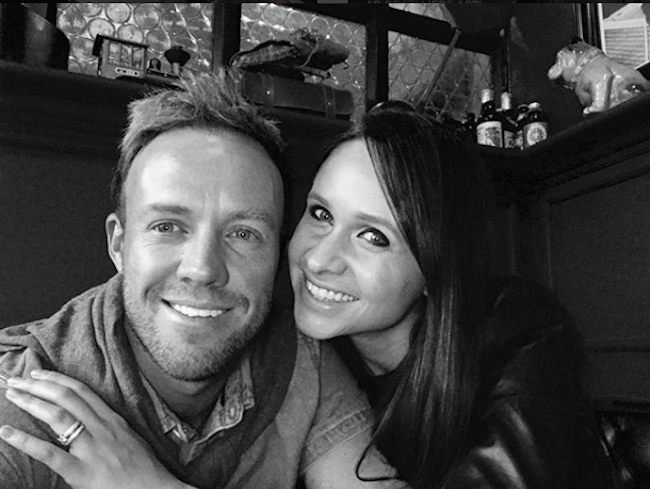 AB DiVilliers With His Wife Danielle De Villiers Images in Hindi
