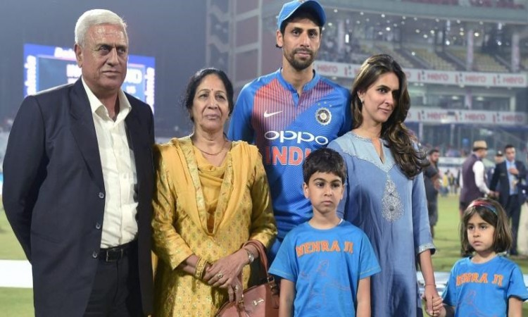 Ashish Nehra spent more time with physio than his wife says Sourav Ganguly