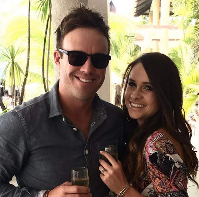 DeVilliers With Danielle De Villiers Images in Hindi
