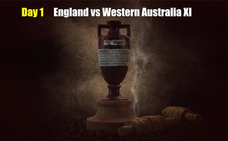 England vs Western Australia XI