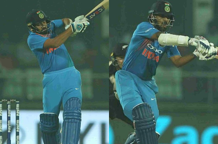 Rohit Sharma and Shikhar Dhawan half centuries guide India to 203