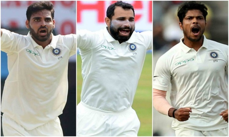 3 India fast bowlers have taken 2 or more wickets in the same innings in a home Test