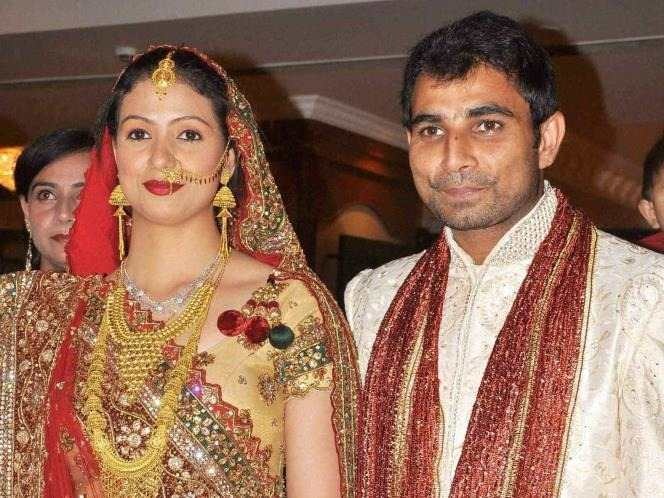 Mohammad Shami With His Wife Images