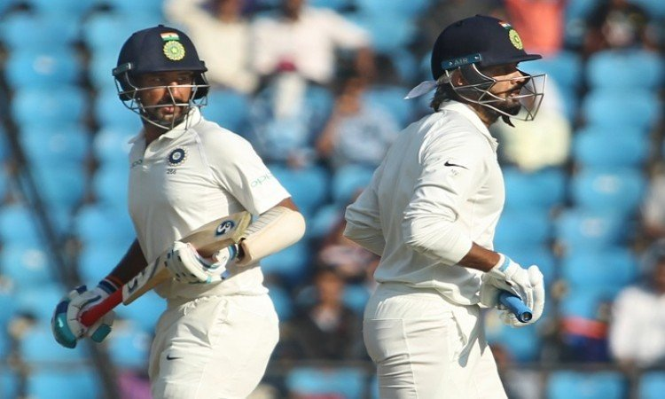 Cheteshwar Pujara, Murali Vijay hand India 107 runs lead against Sri Lanka on Day 2