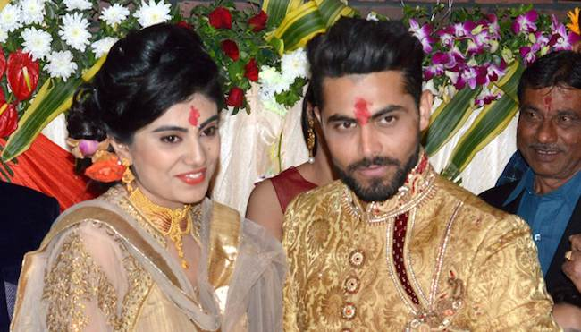 Ravendra Jadeja With His Wife Images in Hindi