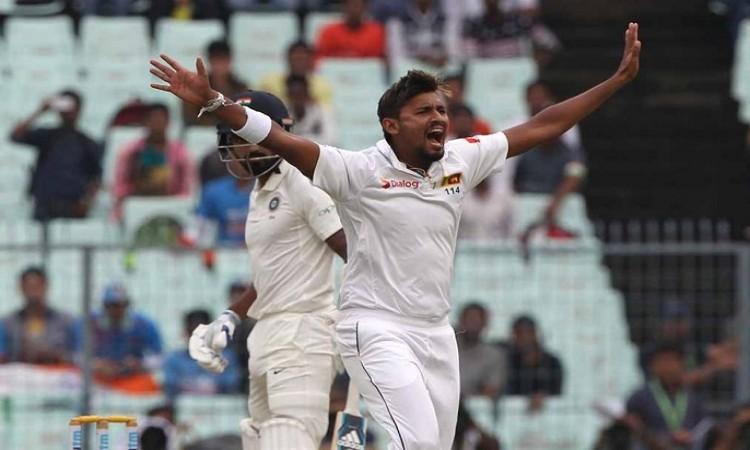 Suranga Lakmal takes two wickets to reduce India to 17/2 at tea
