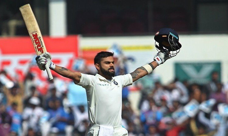 Virat Kohli recorded the most number of international cricket centuries in a year by a captain