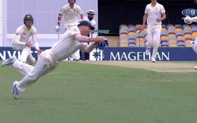 David Warner Snares The First Classic Catch Of The Men's Ashes