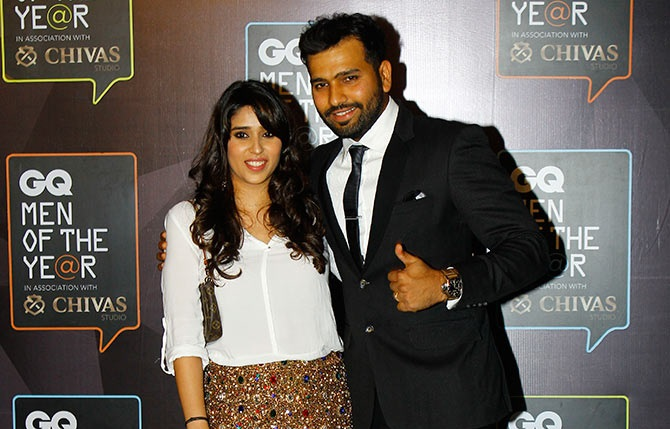 Rohit Sharma With His Wife