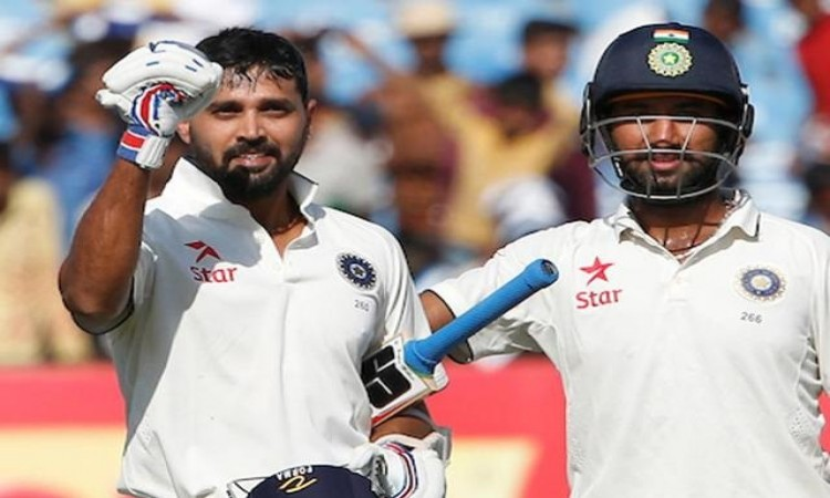 CHETESHWAR PUJARA and MURALI VIJAY 9th century stand for 2nd wicket in test for India
