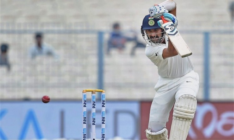 Cheteshwar Pujara becomes the 9th player to bat all five days in a Test match
