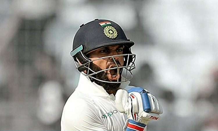Ton-up Virat Kohli drives India to 404/3 at lunch on Day 3