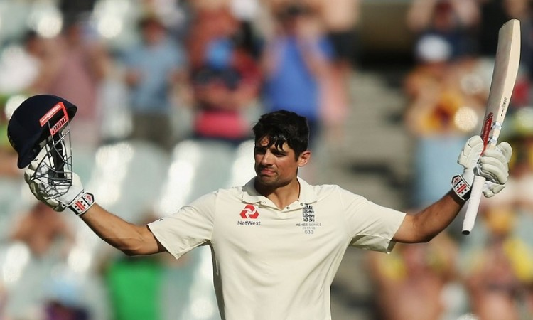 Alastair Cook unbeaten century helped England score 192/2, trailing by 135 runs