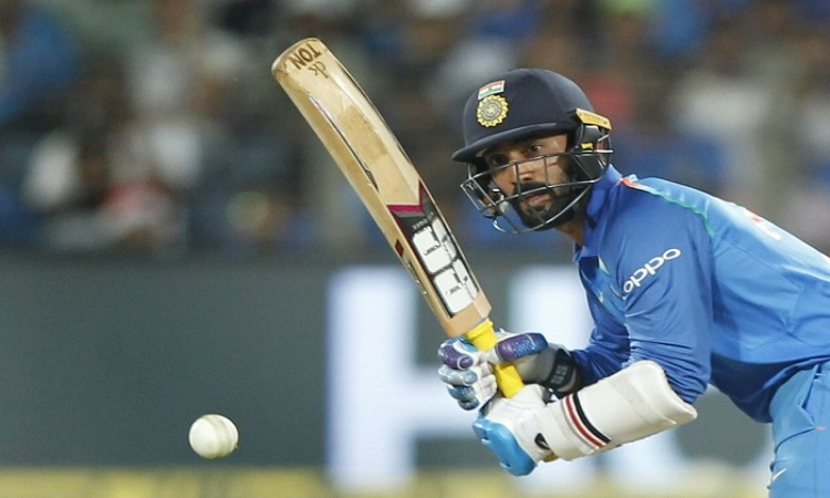 Dinesh Karthik faced 18 balls and  getting dismissed for a duck