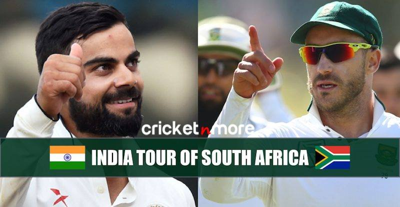 India tour of South Africa 2018 Schedule