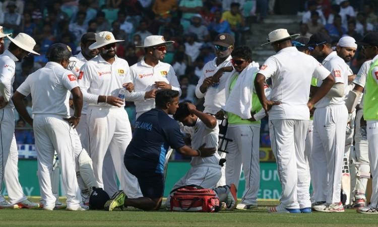 Sadeera Samarawickrama ruled out of second day's play vs India