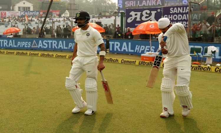 India post 116/2 at lunch on Day 1 of Kotla Test