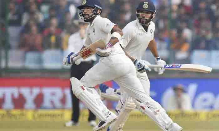 Delhi Test: India declare at 246/5, set SL 410-run target to win Images