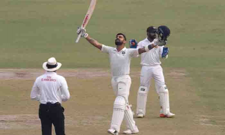 Delhi Test: India gain 355-run lead at tea on Day 4 Images