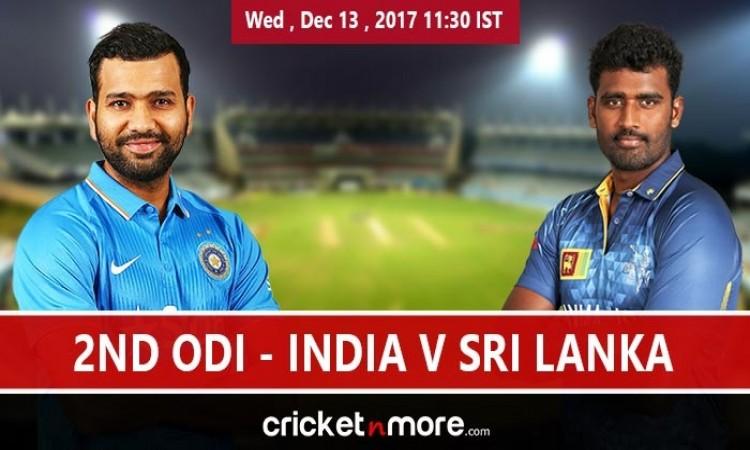 India vs Sri Lanka 2nd ODI Live Score