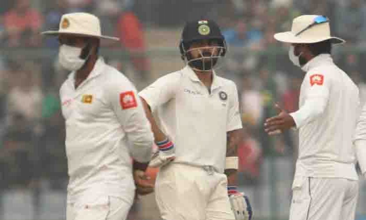 Air quality in Delhi 'very poor', Sri Lanka player leaves field  Images