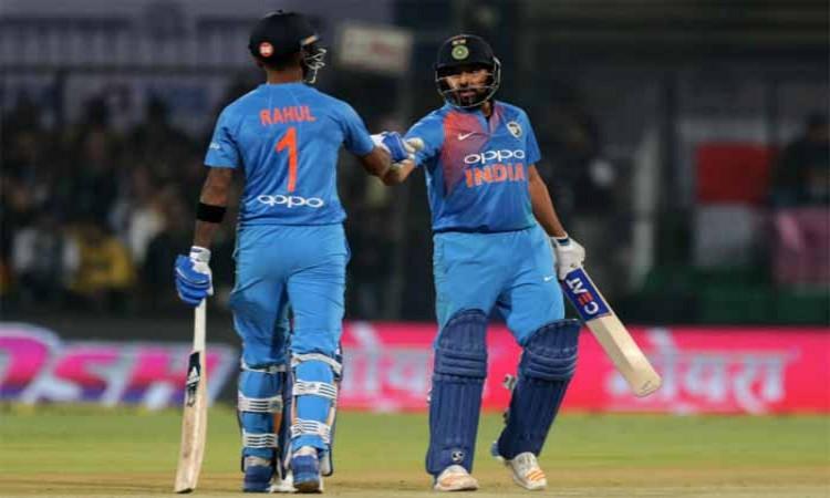 Lokesh Rahul, Rohit Sharma rise in ICC T20I rankings Images