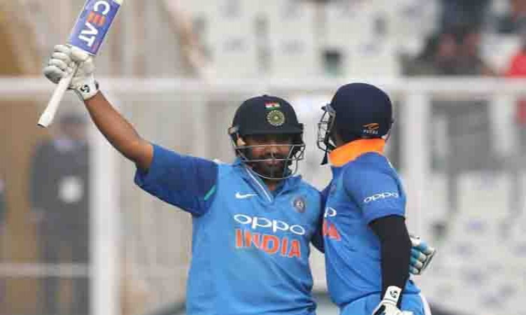 Rohit Sharma's record double ton powers India to 392/4 in 2nd ODI Images