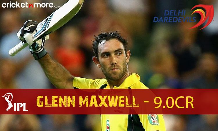 Glenn Maxwell (Delhi Daredevils) Images in Hindi