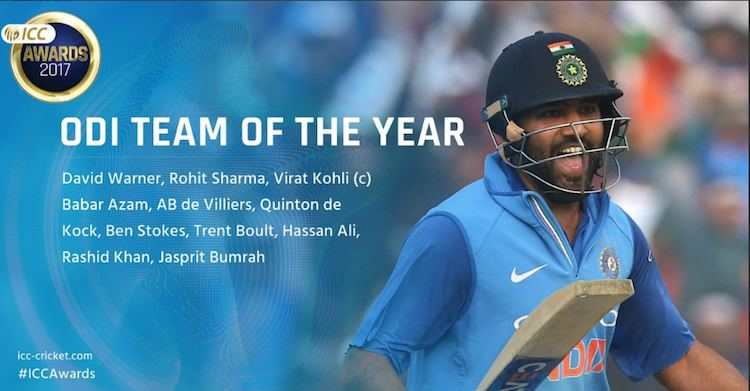 ICC ODI team of the year 2017