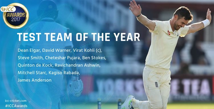 ICC announces Test team of the year 2017