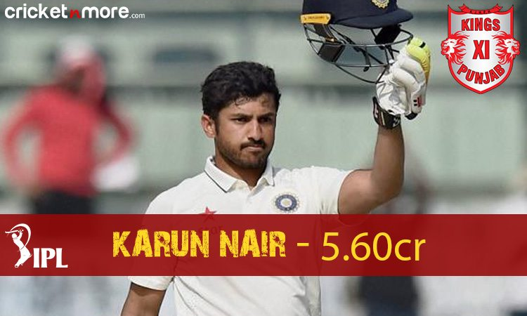 Karun Nair (Kings XI Punjab) Images in Hindi