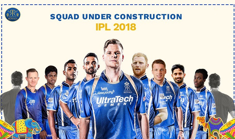 Rajasthan Royals Squad after Day 1 of ipl auction 2018
