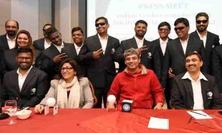 Ravindra Jadeja wishes Indian blind cricket team for 5th ODI World Cup Images
