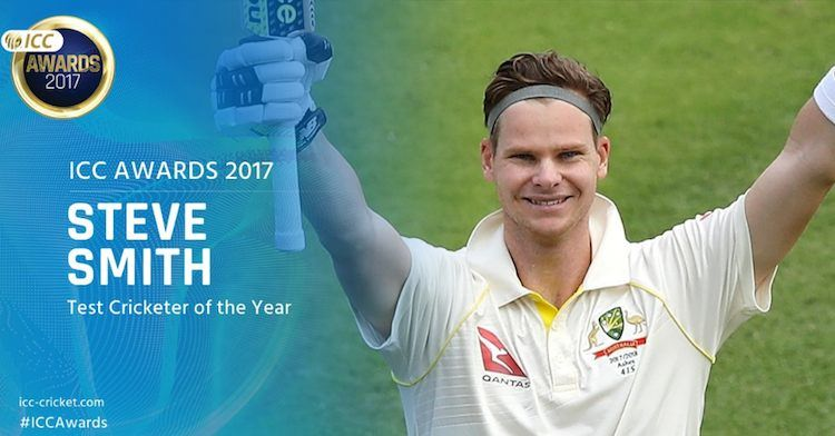 Steve Smith (Australia)   ICC Men's Test Cricketer Of The Year Images in Hindi