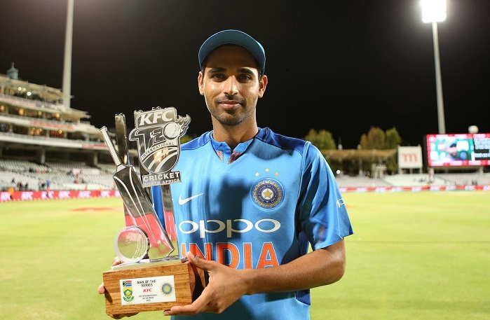 Bhuvneshwar Kumar took seven wickets against South africa in t20i series