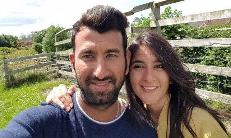 Cheteshwar Pujara and His wife pooja blessed with a baby girl