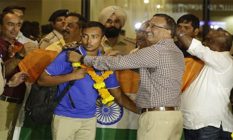 Images for Victorious U-19 India cricket squad arrives in Mumbai